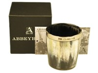 Whisky Tot - Oxhorn - Polished - Silver Band