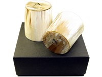 Whisky Tot - Oxhorn - Polished - Two Boxed