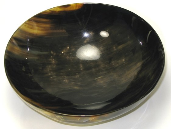 Extra Large Round Cow Horn Bowl | Large horn bowl