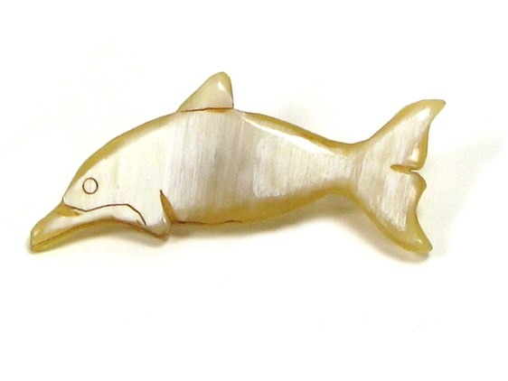 Brooch - Oxhorn - Dolphin