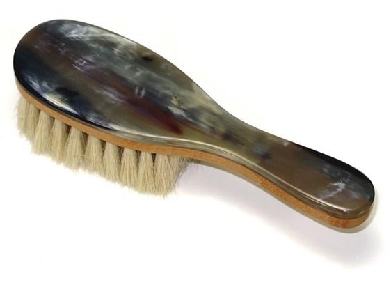 Horn Backed Baby Brush | Goat Hair Bristle Brush