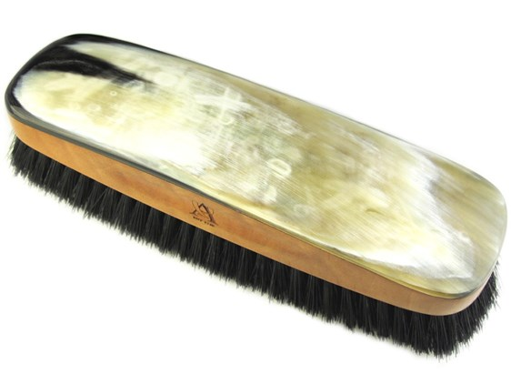 Large Cow Horn Backed Clothes Brush