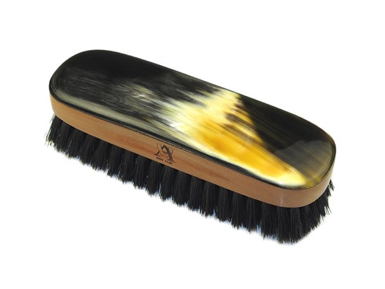 Small Rectangular Oxhorn Backed Horn Clothes Brush