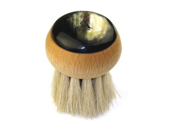 Beechwood & Horn Mushroom Brush | Horse Hair Bristles