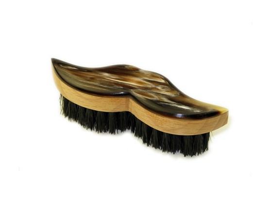 Beech & Horn Boar Bristled Moustache Brush