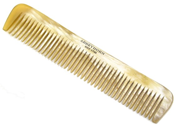 Cow Horn Wide Single Tooth Comb | 170mm in length