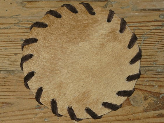 Cow Hide Coaster - Fawn