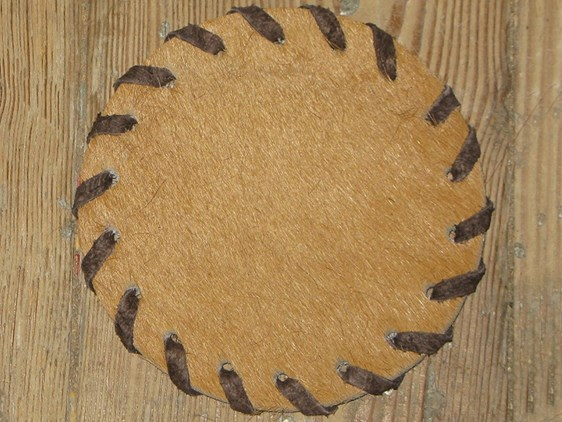 Cow Hide Coaster - Camel