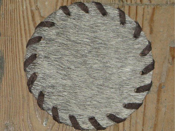 Cow Hide Coaster - Grey