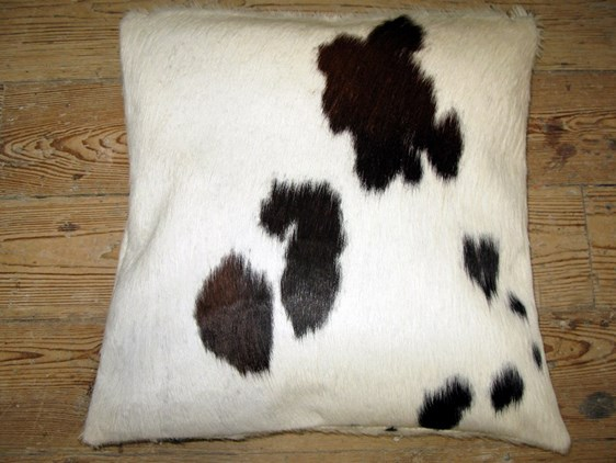 Cow Hide Cushion - Black & White