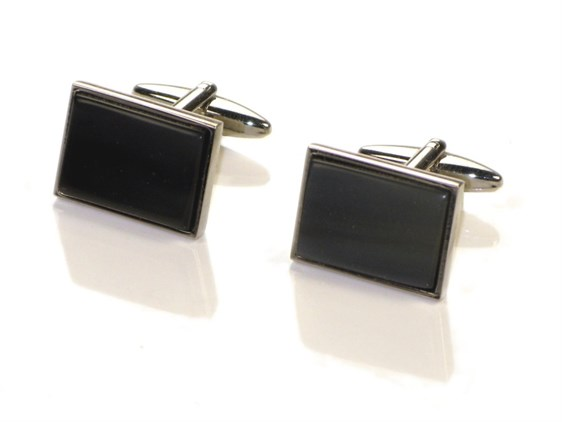 Rectangle Cow Horn Cufflinks
