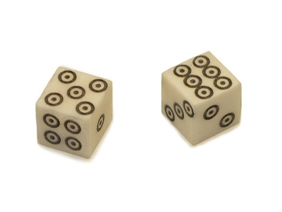 Dice - Pair - Bone - Viking