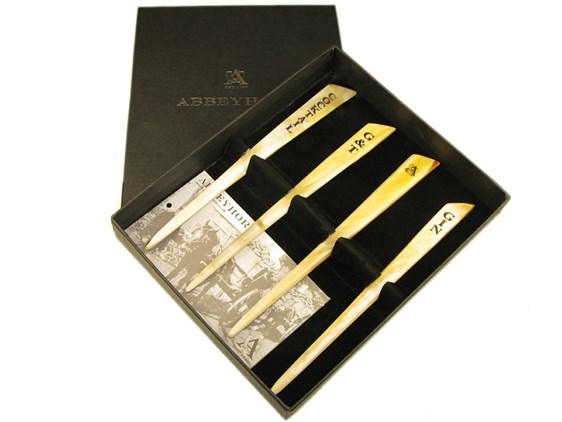 Box of Four Horn Drinks Cocktail Stirrers | Personalise your stirrer