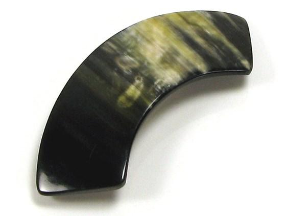 Arched Horn Hair Slide | Cow Horn Hair Slide
