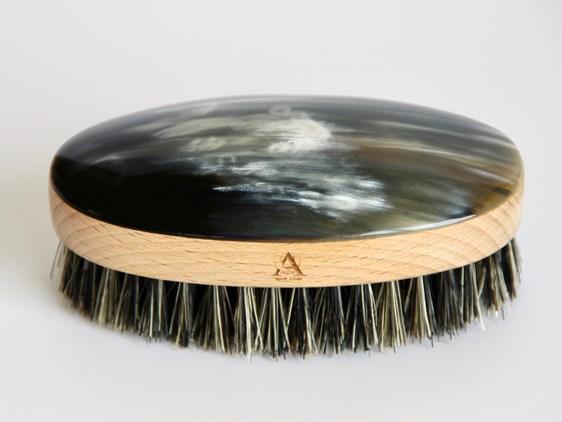 Oval Horn Hair Brush | Boar Bristled Cow Horn Hair Br