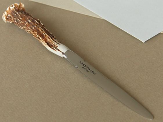Roe Deer Handle Steel Letter Opener / Paper Knife