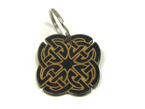 Keyring - Oxhorn - Celtic Design
