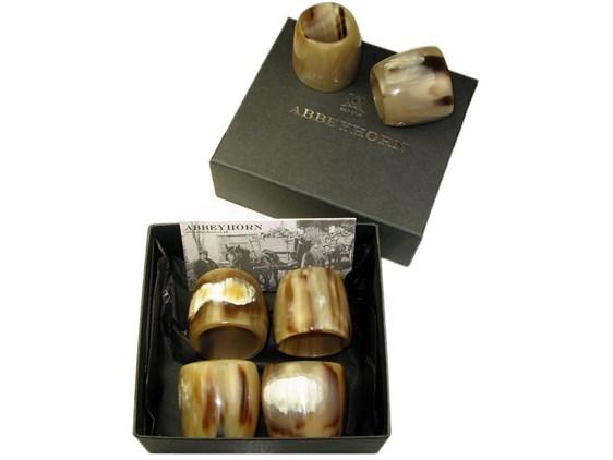 Box of Six Horn Napkin Rings