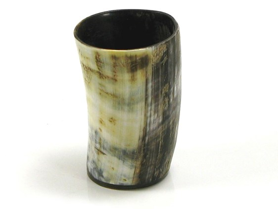 Rustic Lightly Polished Horn Drinking Cup