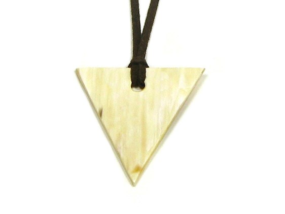 Triangle Shaped Horn Pendant