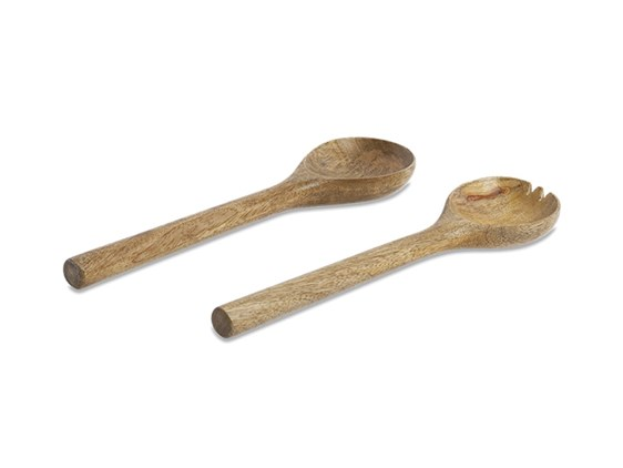 Small Mango Wood Salad Servers