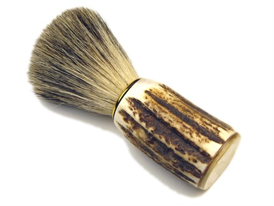 Shaving Brush - Super Badger Bristle - Stag Antler