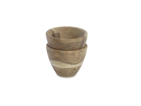 Small Sheesham Wood French/Nibble Bowl