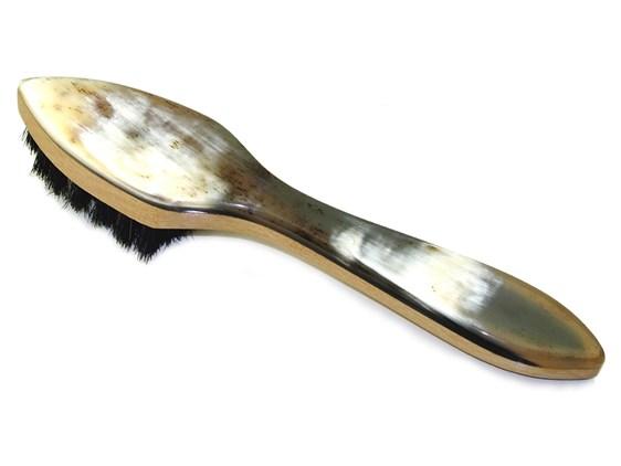 Horn Backed Black Shoe Brush Polish Applicator