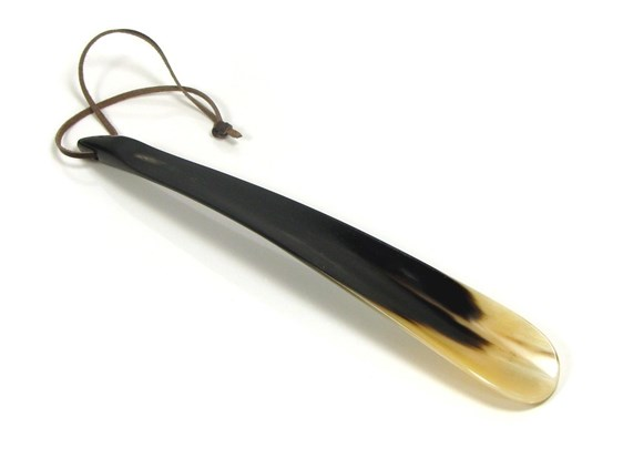 "Small Tip End Horn Shoehorn | 14"" in length"