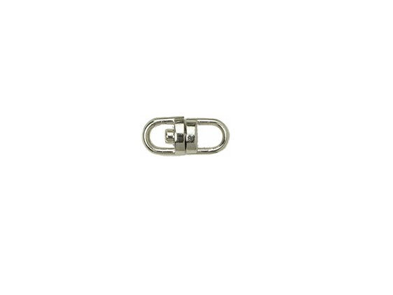 10 x  Keyring Swivel Nickel Coated - 15mm