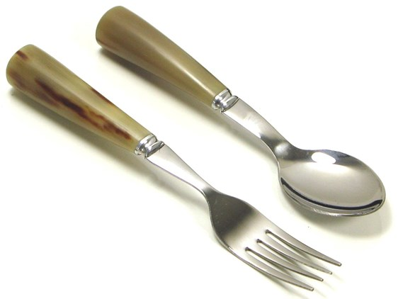 Children's First Horn Cutlery Set