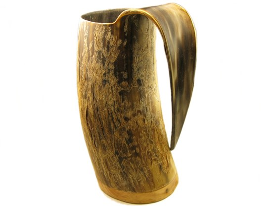 1 Pint Rough Finish Cow Horn Viking Mug / Tankard | Horn Viking Tankard