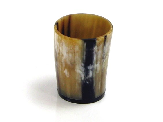 Polished Ox Horn Whisky Tot / Beaker