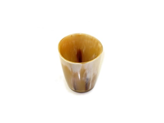 Tiny Polished Ox Horn Whisky Tot / Beaker