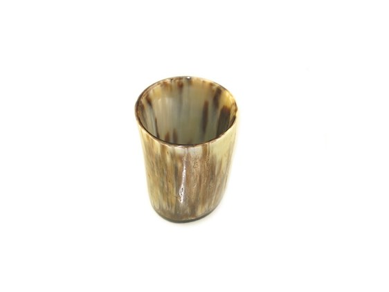 Tiny Rough Polished Ox Horn Whisky Tot / Beaker