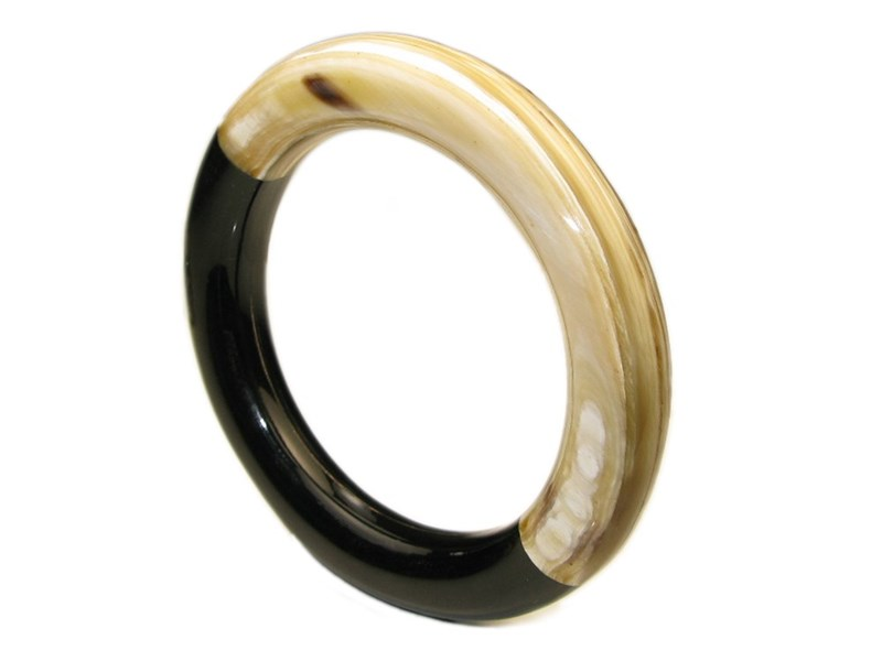 Cow Horn and Bone Contrasting Ladies Bangle