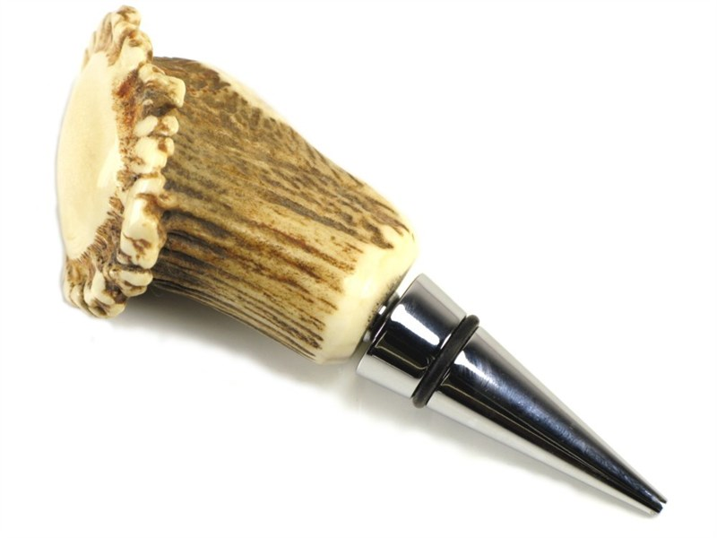 Bottle Stopper - Stag Antler - Crown