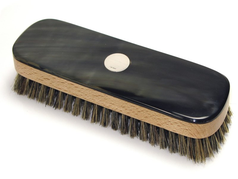 Clothes Brush - Rectangular With Silver Disc