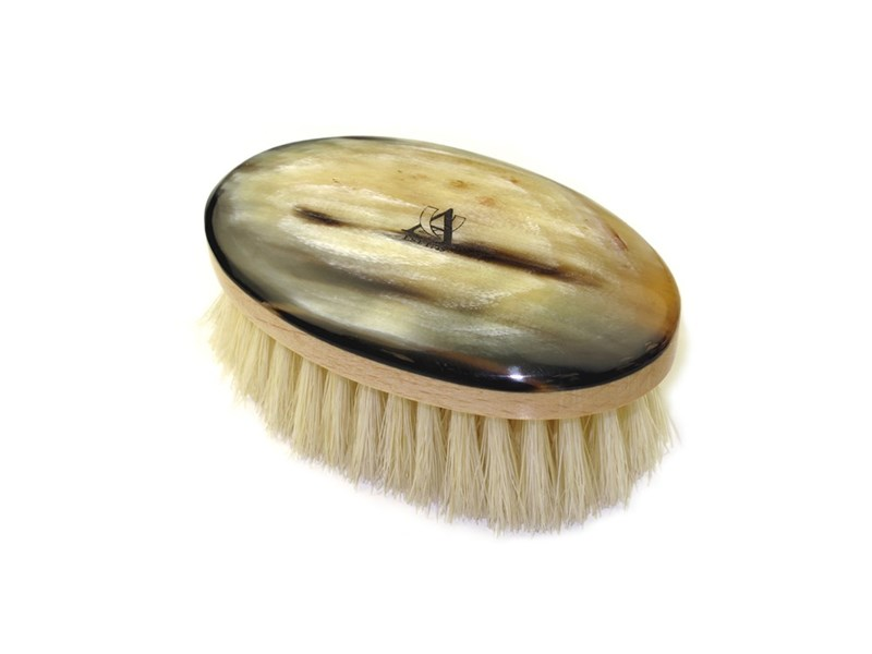 Cow Horn Boar Bristle Face Brush
