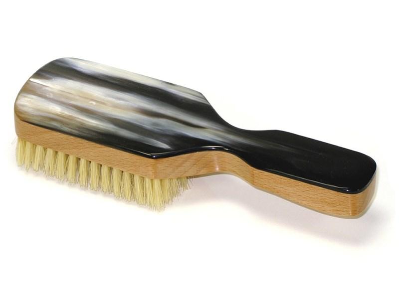 Club Handle Horn Hairbrush