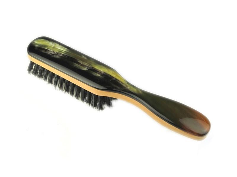 Pearwood & Horn Four Rows Pocket Brush