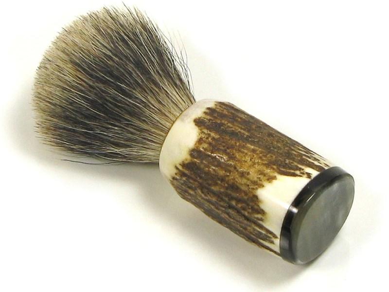 Badger Bristle Stag Antler Shaving Brush