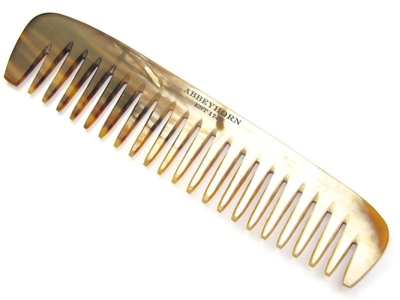 Cow Horn Wide Single Tooth Comb