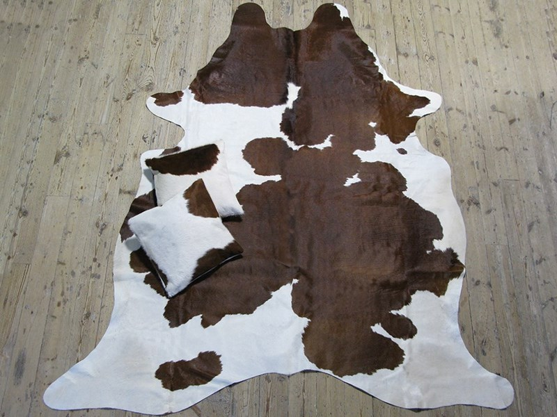 XL Cow Hide - Brown & White