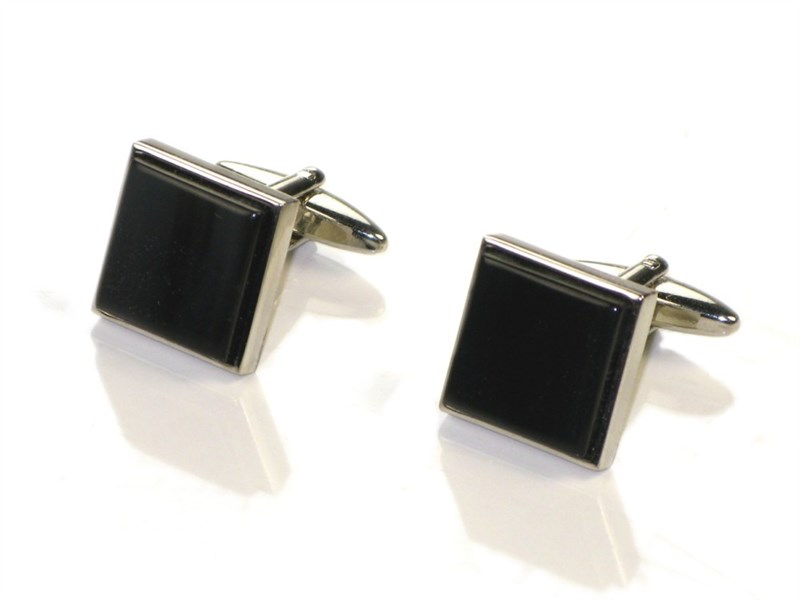 Square Cow Horn Cufflinks