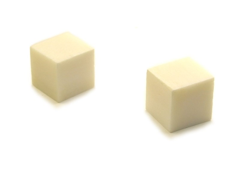 Dice - Pair - Bone - Blank