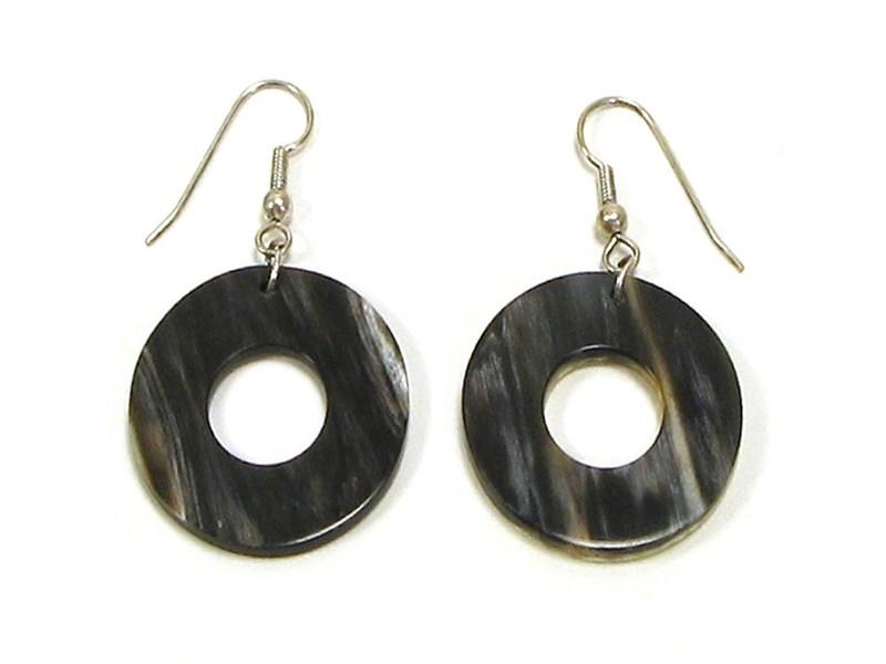 Round Horn Earrings