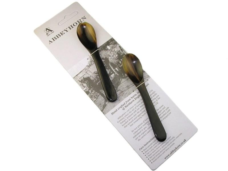 Egg Spoon - Oxhorn - Pair