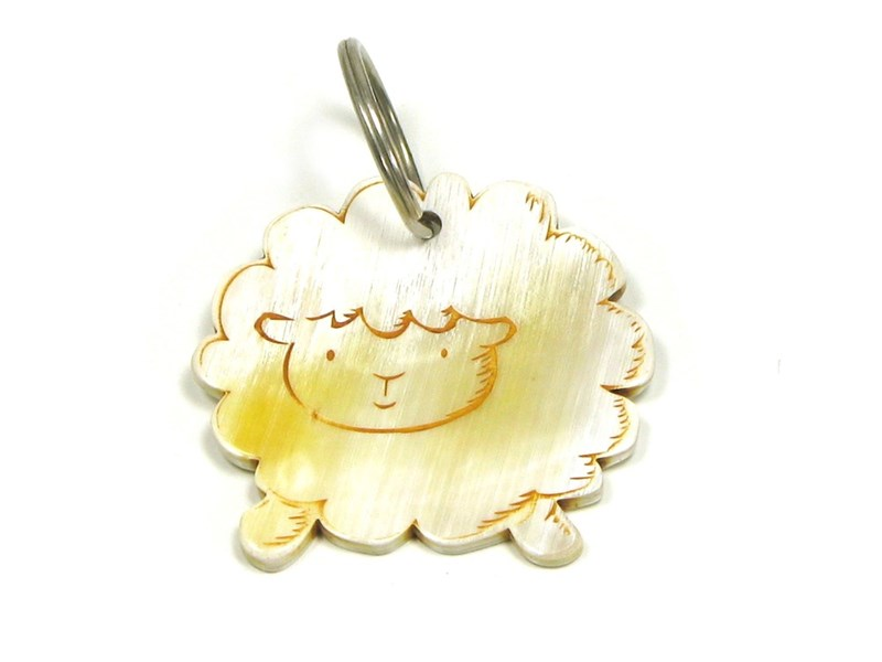 Keyring - Oxhorn - Fluffy Sheep