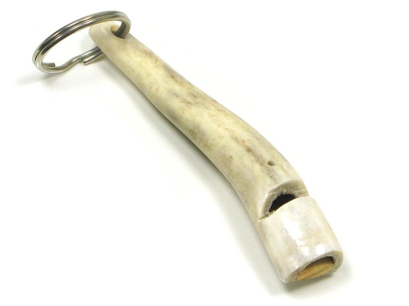 Keyring - Whistle - Two Tone - Stag Antler